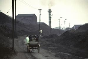 Coal deposit in Jharkhand, India.