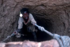 Children work in this gold mine in Burkina Faso