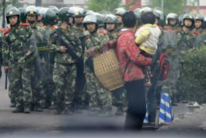 Security forces in Chongqing