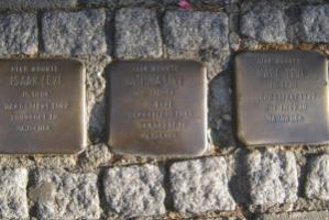 The Levis were deported from Frankfurt and killed in the Nazis' Majdanek concentration camp: brass cobblestones on German sidewalks where holocaust victims used to live