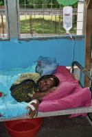 Patient at a hospital in Tanga, Tanzania