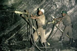 Copper ore miners in Zambia