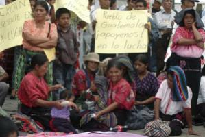 Demonstration of indigenous women in Guatemala City in August 2012