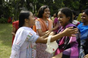 Celebrating exams at a secondary school for girls in Dhaka
