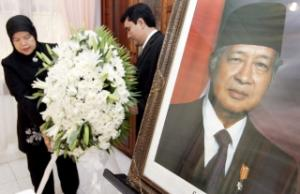 Mourning ceremony for Suharto at the Indonesian embassy in Phnom Penh, Cambodia