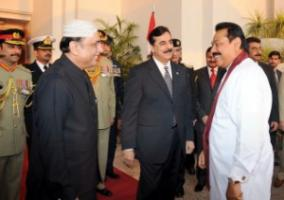 President Zardari left with Prime Minister Gilani, who has irritated military leaders