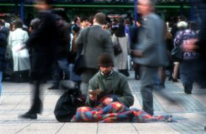 Some domestic trends alarm conservative economists in rich nations: a beggar in Hanover