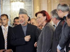 Germany's Development Minister Heidemarie Wieczorek-Zeul – here talking to Afghanistan's President Hamid Karzai – commissioned an evaluation of projects' effects