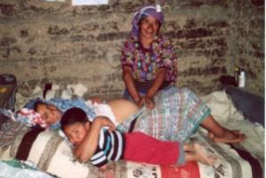 A traditional midwife in Guatemala