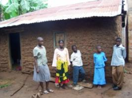A household in Tanzania without parents