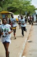 Who measures performance? And what are the criteria? Participants in the Accra Milo Marathon of summer 2006