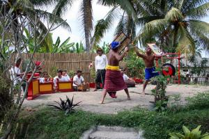 Martial-arts performance in an Indonesian tourism resort