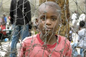A boy in a refugee camp near Goma