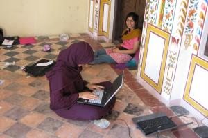 Britain sets priorities in empowering and improving the lives of girls and women. Pakistani girls with laptops