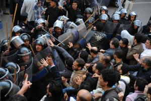 On 25 January, Egyptian police did not manage to disperse protests on Tarhir Square