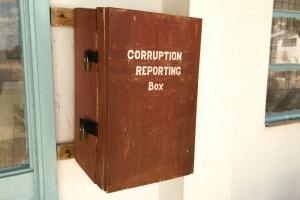 Mailbox for reports on corruption at the Provincial General Hospital in Kenya