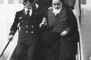 Ayatollah Khomeini returns from French exile in February 1979
