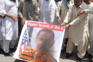 Anti-US demonstration in Multan, Pakistan, in May