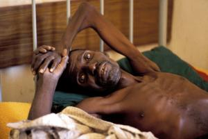 An AIDS patient in Zambia: many adults are no longer able to work