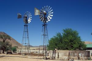 There is scope for improving clean energy production in Africa: Wind mills in Namibia