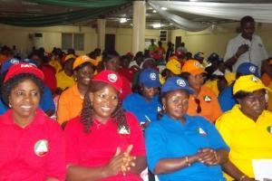 Trade unionists celebrating the international women's day