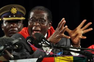 President Mugabe is backed by the security forces