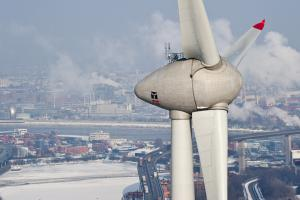 """German know-how and technology can make a real difference"": Wind turbine in Hamburg"