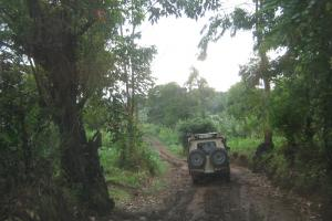 """It is impossible to build toll roads in rural districts."" Mud road in Tanzania"