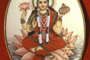 To Hindus Lakshimi is the goddess of prosperity