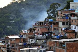 Favelas cover the slopes of Rio's many hills