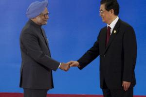 Partners and antagonists: Manmohan Singh, India's prime minister, and Hu Jintao, China's president, met at the BRICS summit which also involved Brazil, Russia and South Africa in April in Sanya, China