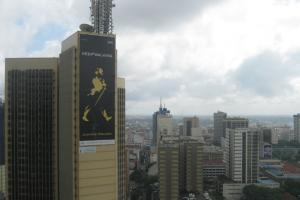 Consumer demand is growing in cities: whiskey advertising in Nairobi