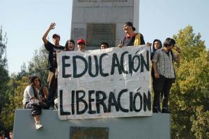 Protesting students in Chile