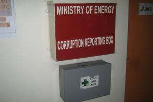 Wall in Kenya's energy ministry in late 2010