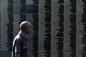 Painful remembrance: memorial for victims of the genocide in Rwanda