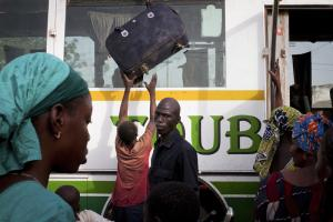Refugees arriving in Bamako in April