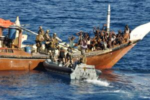 Arrested pirates off Somilia's coast
