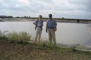 An infrastructural project of water collection in Ethiopia