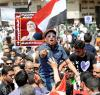 """The relevance of the foundations for promoting democracy has recently become strikingly evident in North Africa and the Middle East."" Egyptian demonstrators in May"